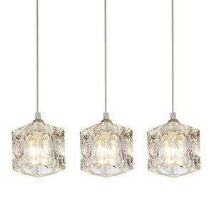 Kitchen 3 Pendant Lighting Fixture Modern Crystal Hanging Ceiling Island Set 3 For Indoor Lighting for Sale in Henderson, NV