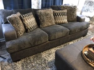 ONLY Selling 1 GREY Sofa with pillows & Ottoman,NOT selling separate,NO Deliver for Sale in Raleigh, NC