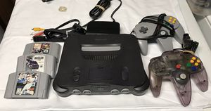 Nintendo 64 w games and 2 controllers for Sale in Kennewick, WA