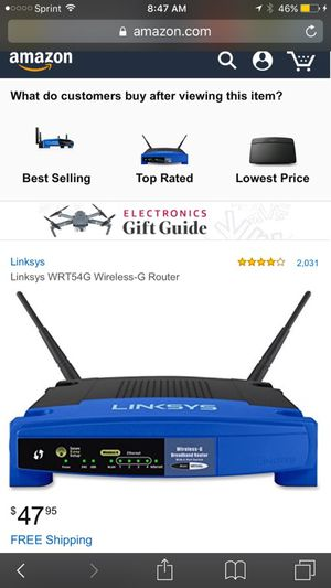 Linksys wireless router for Sale in Bowie, MD