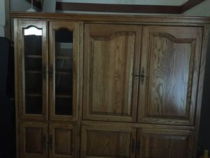 Solid wood entertainment center OBO!! for Sale in Wichita, KS