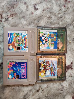 Megaman xtreme 2, Super Mario bros Deluxe, Tetris, Warioland gameboy color for Sale in Houston, TX