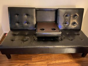 Leather couch/futon for Sale in Chula Vista, CA