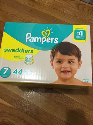 Pampers swaddlers , size 7 , 44 count, new for Sale in Woodbridge Township, NJ