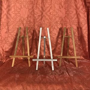3 Short Table Top Easels Display Table Top Decor for Sale in Fremont, CA