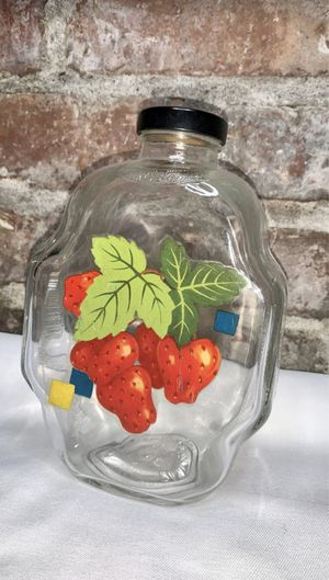 Vintage Strawberry Patch Fruit Jar for Sale in Seattle, WA