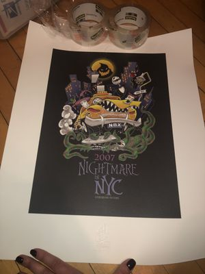 Disney Nightmare Before Christmas Authentic Poster for Sale in Chicago, IL