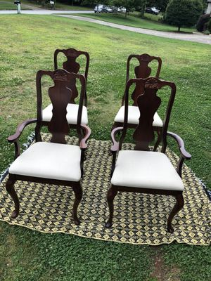 Four wooden dining chairs for Sale in Roswell, GA