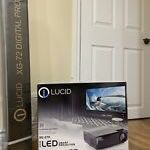 Lucid XG270 Projector & 72 Inch Screen With Locking Feature for Sale in Gambrills, MD