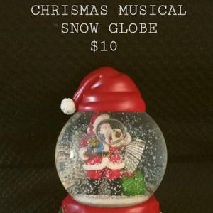 CHRISTMAS MUSICAL SNOW GLOBE for Sale in Phoenix, AZ