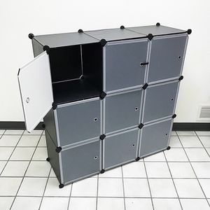 "(New In Box) $40 Plastic Storage 9-Cube DYI Shelf with Door Clothing Wardobe 43""x14""x43"" for Sale in Whittier, CA"