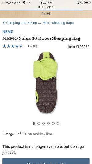Nemo Salsa 30 Down Sleeping Bag Regular for Sale in Bell Gardens, CA