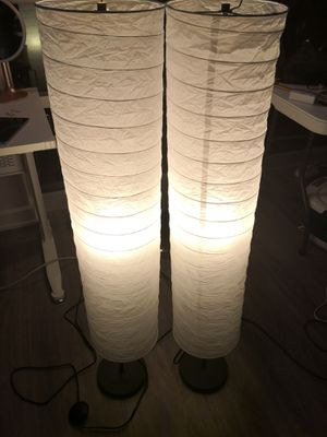 IKEA floor lights with LED bulbs for Sale in West McLean, VA