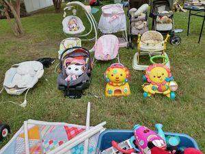 Baby stuff gear stroller double stroller walker bassinet swing bouncer for Sale in Irving, TX