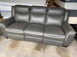 Grey electric recliner sofa and chair for Sale in Stockton, CA