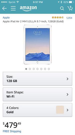 128 GB iPad Air 2, gold for Sale in Dallas, TX