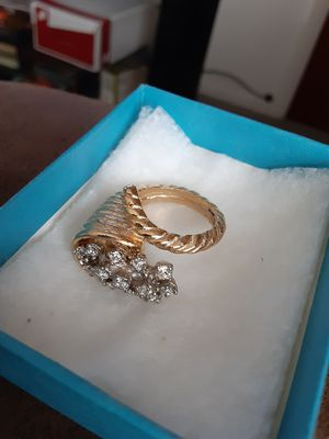 New Womans Gold Plated Bugle Ring for Sale in Pueblo, CO