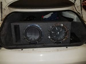 Subwoofer, box, and amp for Sale in Phoenix, AZ
