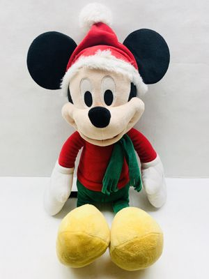 """Mickey Disney Christmas plush stuff toy 17"""" Red kids toy colletible for Sale in Riverside, CA"""