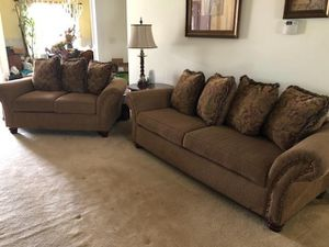 Excellent Condition / Like New - Sofa Couch & Loveseat Set - Brown - Smoke Free / Pet Free home for Sale in Hampton, VA