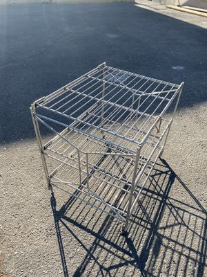 Vintage stainless steel side table for Sale in Los Angeles, CA