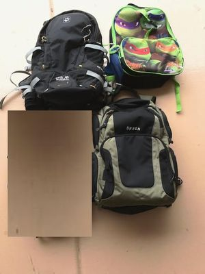4 Backpacks for sale! Mt. biking, hiking, trekking, school - every day use! for Sale in Sun City, AZ
