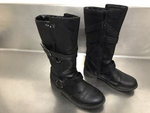 Kenneth Cole Reaction Girls Take A Flake Black Boots - Size 2 - Very Good Condition for Sale in Hampton, VA