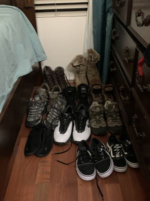 Each pair $25, Great shape for used condition, $180 takes all. Boots/ Hiking boots/ Work boots and causal wear. for Sale in Avondale, AZ