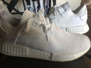 Adidas Nmd R1 pk size 9.5 white gum bottom for Sale in Ontario, CA