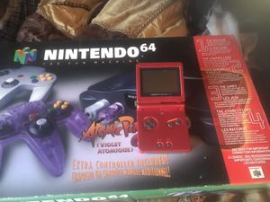 Xbox one S game cube super Nintendo nintendo 64 and GameBoy advance SP for Sale in Kent, WA
