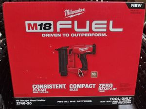 Milwaukee 18g Brad Nailer Tool Only for Sale in Miami, FL