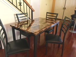 Brand new dining table with 4 chairs. Free curbside delivery included for Sale in Richmond, CA