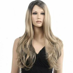 28'' Long Curly Blonde Ombre Women Wig Fashion Heat Resistant Synthetic Wig USA (heatwig-USA) for Sale in Riverside, CA