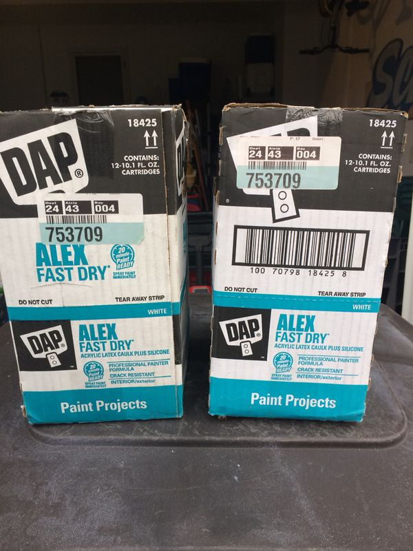 DAP  White  Latex Caulk With Silicone  18 Tubes  for Sale in Lake Geneva,  WI - OfferUp