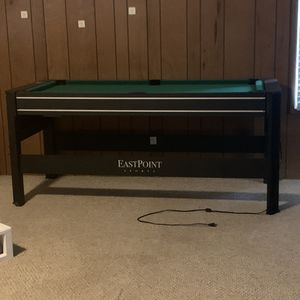 All in 1 game table has pool, air hockey & table tennis & much more for Sale in Seal Beach, CA