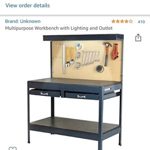 multipurpose workbench with lighting and outlet for Sale in Seattle, WA