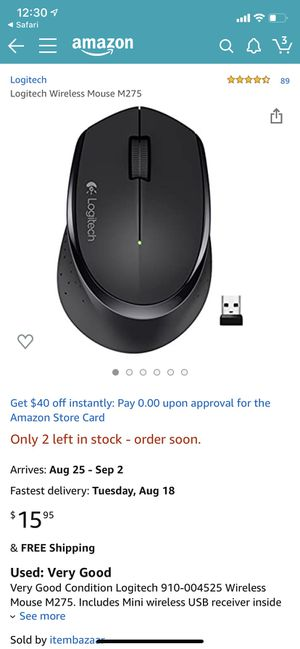 Logitech Wireless Mouse M275 for Sale in Los Angeles, CA