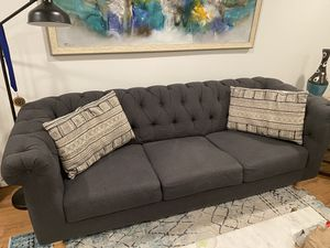World Market Gray Sofa for Sale in Arlington, VA