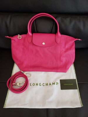 100% Authentic & New Longchamp Leather Small Tote Bag With Long Strap Pink for Sale in Colma, CA