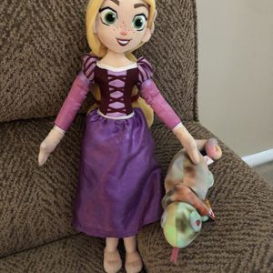Disney Princess Rapunzel plush doll with best friend chameleon for Sale in St. Peters, MO