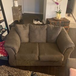 Gray Velvet Suede Couch And Love Seat for Sale in Orland Park,  IL