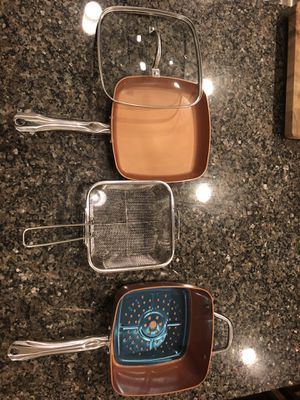 Copper Chef Pan Set: Square Pan and Square Frying Pan for Sale in Chicago, IL