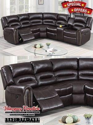 **BIG SAVER** Power Motion Sectional LAF Arm Loveseat With One Recliner & Console $868 for Sale in Fullerton, CA