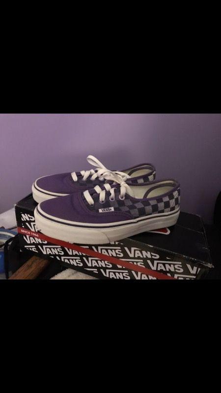 Purple Vans size 4!!!