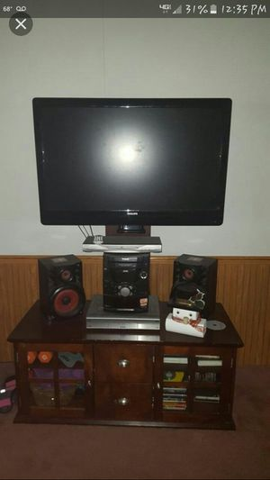 Soild Cherry Wood TV Stand with Mount for Sale in Amelia Court House, VA