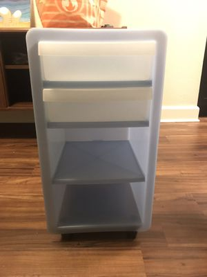 Blue Storage/File Organizer Container on Wheels for Sale in Pasadena, CA