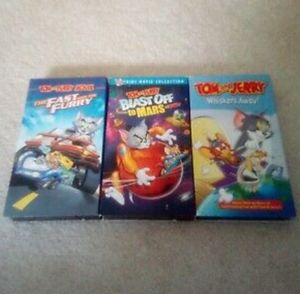 Lot of 3 Tom & Jerry cartoon VHS tapes for Sale in Strongsville, OH