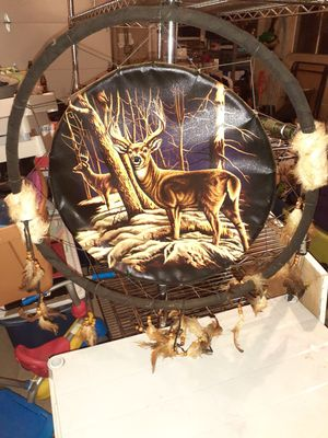 Large Native nature deer theme Dreamcatcher for Sale in Erie, PA
