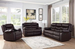 New Brown 3pc. Recliner Set for Sale in Austin, TX