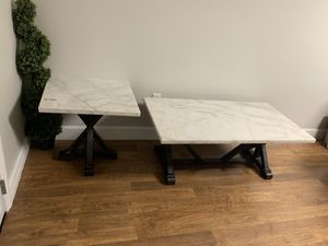 Real Marble top Coffee table and side table for Sale in Smyrna, TN